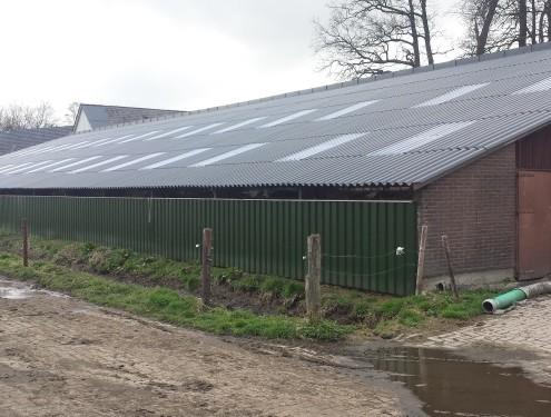 nieuw dak geplaatst